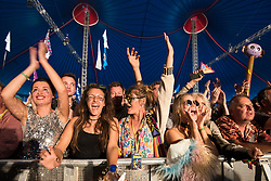 Fans watch Future Islands during the Glastonbury Festival at Worthy Farm in Pilton, Somerset. Picture date: Friday June 23rd, 2017. Photo credit should read: Matt Crossick/ EMPICS Entertainment.