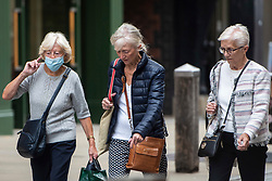 © Licensed to London News Pictures. 11/09/2020. Chester, UK. Shoppers wear face masks in Chester today [FRI] Photo credit: Kerry Elsworth/LNP