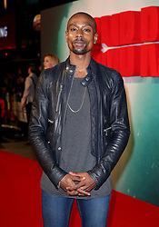 Michael Obiora attending the Tomb Raider European Premiere held at Vue West End in Leicester Square, London.