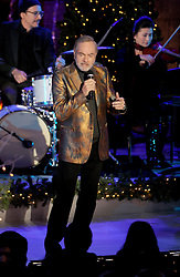 Neil Diamond performs at the annual Christmas Tree Lighting Ceremony at the Rockefeller Center in New York City, NY, USA, on November 30, 2016. Thousands of revelers crowded the sidewalks for the event. The Tree will remain lit and can be viewed until 9pm on January 7, 2017. Photo by Dennis Van Tine/ABACAPRESS.COM