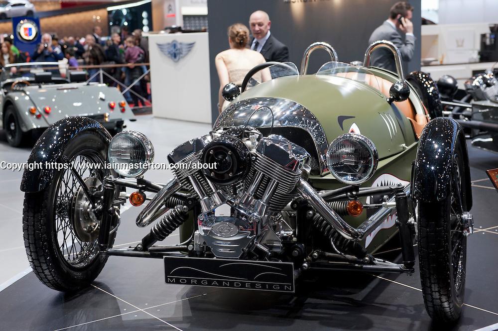 Morgan Threewheeler 3 wheeled car at Geneva Motor Show 2011 Switzerland