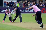 Ian Cockbain about to play a shot during the NatWest T20 Blast South Group match between Gloucestershire County Cricket Club and Middlesex County Cricket Club at the Bristol County Ground, Bristol, United Kingdom on 15 May 2015. Photo by Alan Franklin.