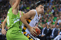Jonas MACIULIS of Lithuania during friendly match between National Teams of Slovenia and Lithuania before World Championship Spain 2014 on August 18, 2014 in Kaunas, Lithuania. Photo by Robertas Dackus / Sportida.com