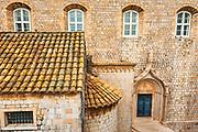 Dubrovnik Cathedral detail, old town Dubrovnik, Dalmatian Coast, Croatia
