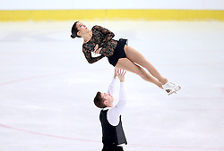 04.12.2015, Dom Sportova, Zagreb, CRO, ISU, Golden Spin of Zagreb, freies Programm, Paare, im Bild Bianca Manacorda - Niccolo Macii, Italy. // during the 48th Golden Spin of Zagreb 2015 doubles Free Program of ISU at the Dom Sportova in Zagreb, Croatia on 2015/12/04. EXPA Pictures © 2015, PhotoCredit: EXPA/ Pixsell/ Igor Kralj<br /> <br /> *****ATTENTION - for AUT, SLO, SUI, SWE, ITA, FRA only*****