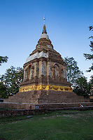 Wat Jet Yot was built in the 15th century to host the eighth World Buddhist Council in Chiang Mai.  The design is based on the Mahabodhi Temple at Bodhgaya, India, site of the Buddha's enlightenment. The name Jet Yot or seven spires, refers to the design of the temple's chedi with seven towers.