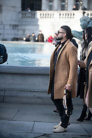 Andrade at trafalgar square stop as  WWE Stars tour London  in an open-top bus   promotie the WWE's move to BT Sport, and