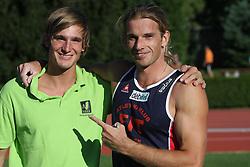 Andrej Poljanec and Jurij Rovan at Athletic National Championship of Slovenia, on July 19, 2008, in Stadium Poljane, Maribor, Slovenia. (Photo by Vid Ponikvar / Sportal Images).