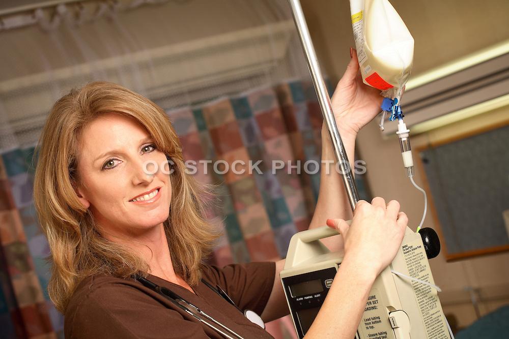 Nurse With IV