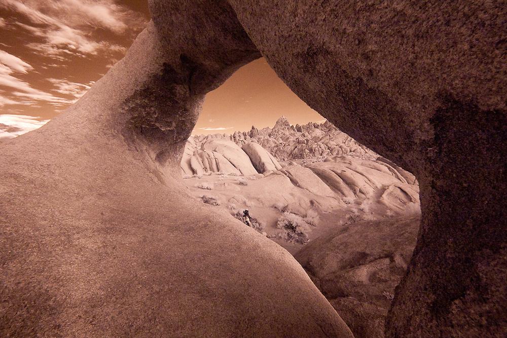 Window Arch, Alabama Hills, California, Infrared Image