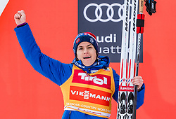 28.01.2018, Seefeld, AUT, FIS Weltcup Langlauf, Seefeld, FIS Weltcup Langlauf, 10 km Sprint, Damen, Siegerehrung, im Bild Heidi Weng (NOR) // Heidi Weng of Norway during winner ceremony of ladie's 10 km sprint of the FIS cross country world cup in Seefeld, Austria on 2018/01/28. EXPA Pictures © 2018, PhotoCredit: EXPA/ Stefan Adelsberger