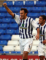 Fotball - Engelsk FA-Cup<br />04.01.2003<br />West Bromwich v Bradford City<br />Daniele Dichio jubler for sitt hat trick<br />Foto: Digitalsport