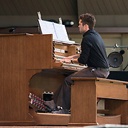 Colin Fowler performs works by Charles Ives, Henry Cowell, Vincent Persichetti and William Bolcom at Libbey Bowl on June 9, 2013 in Ojai, California.