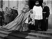 05/10/1952<br /> 10/05/1952<br /> 05 October 1952<br /> Franciscan Church, Merchant's Quay, Novena Mass.<br /> His Excellency Gerald O'Hara, Papal Nuncio, entering the friary. The Nuncio was at the Friary on Merchants Quay, Dublin to preside over one of the Novena Masses.