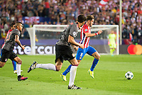 Atletico de Madrid's player Saúl Ñígez and Bayern Munich's player Arturo Vidal during match of UEFA Champions League at Vicente Calderon Stadium in Madrid. September 28, Spain. 2016. (ALTERPHOTOS/BorjaB.Hojas)