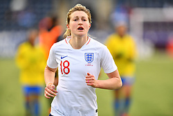 February 27, 2019 - Chester, PA, U.S. - CHESTER, PA - FEBRUARY 27: England Forward Ellen White (18) runs toward the locker room after the first half during the She Believes Cup game between Brazil and England on February 27, 2019 at Talen Energy Stadium in Chester, PA. (Photo by Kyle Ross/Icon Sportswire) (Credit Image: © Kyle Ross/Icon SMI via ZUMA Press)