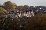 Housing on the Norwood Road between Herne Hill and Tulse Hill in the south London borough of Lambeth, England.