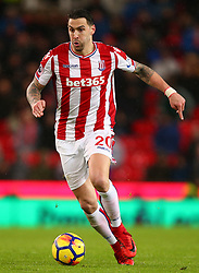 Stoke City's Geoff Cameron during the Premier League match at the bet365 Stadium, Stoke.