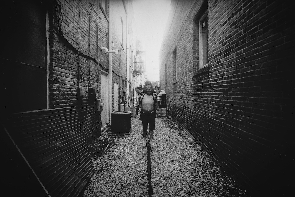 Self portrait captured on 35mm Black and White film.