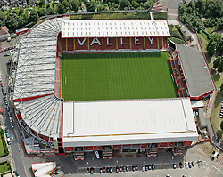 Image ©Licensed to i-Images Picture Agency. Aerial views. United Kingdom.<br /> The Valley, home of Charlton FC. Picture by i-Images