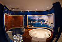 Shower and jacuzzi tub, Two bedroom suite (Number 1109), Burj al Arab Hotel, Dubai, United Arab Emirates