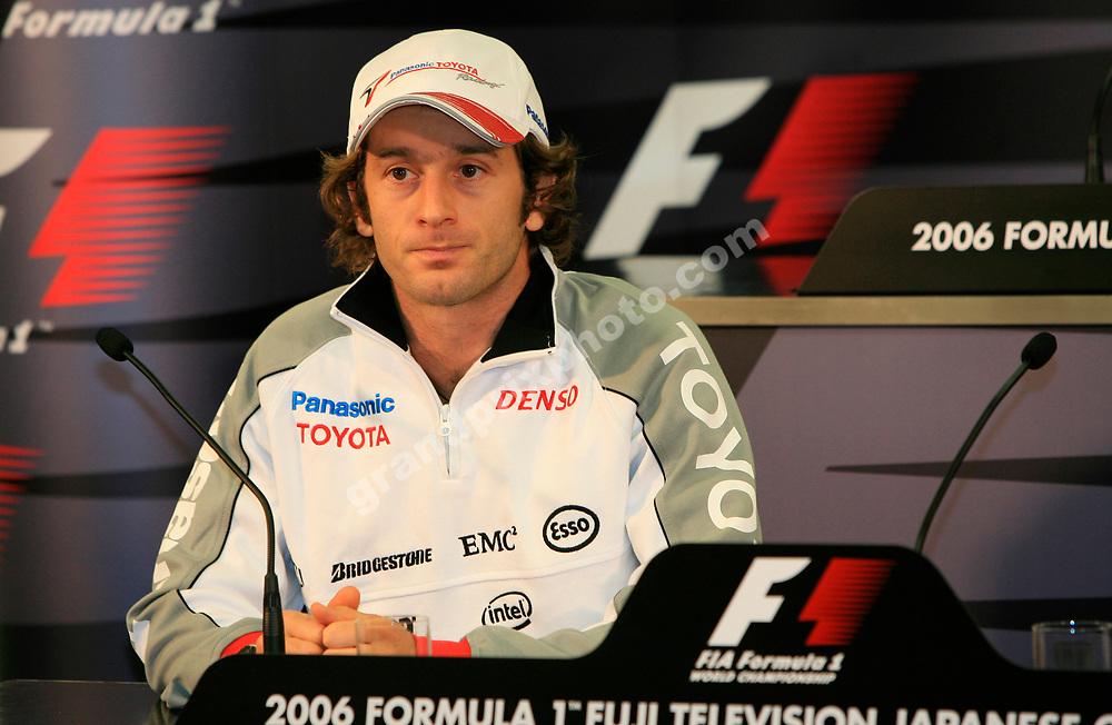 Toyota driver Jarno Trulli at the press conference before the 2006 Japanese Grand Prix in Suzuka. Photo: Grand Prix Photo