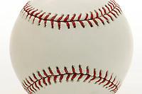 17 May 2005: BASEBALL closeup, detail, Sports Ball graphic detail, illustration, product, art, white background. MLB, Major league baseball.