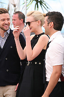 Justin Timberlake, Carey Mulligan, Oscar Isaac, at the Coen brother's new film 'Inside Llewyn Davis' photocall at the Cannes Film Festival Sunday 19th May 2013