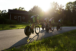 Cylance Pro Cycling speed back toward Vargarda at the Crescent Vargarda - a 42.5 km team time trial, starting and finishing in Vargarda on August 11, 2017, in Vastra Gotaland, Sweden. (Photo by Sean Robinson/Velofocus.com)