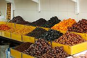 Israel, Tel Aviv, Lewinski market, dried fruit or sale in the market place