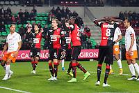 Deception Rennes - 06.12.2014 - Rennes / Montpellier - 17eme journee de Ligue 1 -<br />Photo : Vincent Michel / Icon Sport