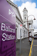 The Ballarat railway station, located on the Serviceton line in Australia's Victoria state, was built in 1862.