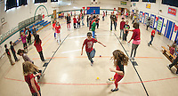 Third graders were eager to Jump with Heart on Wednesday morning as they kicked off the day long event at Gilford Elementary School.  (Karen Bobotas/for the Laconia Daily Sun)