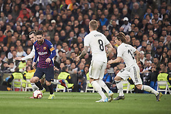 March 2, 2019 - Madrid, Madrid, Spain - Lionel Messi (forward; Barcelona), Gareth Bale (midfielder; Real Madrid) in action during La Liga match between Real Madrid and FC Barcelona at Santiago Bernabeu Stadium on March 3, 2019 in Madrid, Spain (Credit Image: © Jack Abuin/ZUMA Wire)
