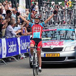 Sportfoto archief 2006-2010<br /> 2009<br /> Marianne Vos prolongeerde op indrukwekkende manier haar nationale titel op de weg bij de vrouwen.<br /> Marianne Vos was the strongest on the Dutch Nationals