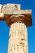 Greek Dorik columns at the  ruins of Temple F at Selinunte, Sicily photography, pictures, photos, images & fotos. 41 Greek Dorik Temple columns of the ruins of the Temple of Hera, Temple E, Selinunte, Sicily .<br /> <br /> If you prefer to buy from our ALAMY PHOTO LIBRARY  Collection visit : https://www.alamy.com/portfolio/paul-williams-funkystock/selinuntetemple.html<br /> Visit our CLASSICAL WORLD HISTORIC SITES PHOTO COLLECTIONS for more photos to buy as buy as wall art prints https://funkystock.photoshelter.com/gallery-collection/Classical-Era-Historic-Sites-Archaeological-Sites-Pictures-Images/C0000g4bSGiDL9rw