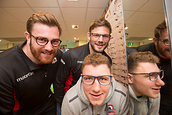 Edinburgh rugby players Simon Berghan, Ross Ford and Duncan Weir officially opened the new Specsavers store at 70 St John Road, Corstorphine, Edinburgh.