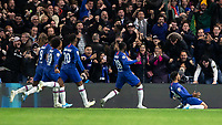 Football - 2019 / 2020 UEFA Champions League - Group H: Chelsea vs. Ajax<br /> <br /> Reece James (Chelsea FC) after he scores to make the score 4-4 at Stamford Bridge <br /> <br /> COLORSPORT/DANIEL BEARHAM