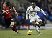 Fotball<br /> Premier League 2004/05<br /> Bolton v Blackburn<br /> 28. desember 2004<br /> Foto: Digitalsport<br /> NORWAY ONLY<br /> Jay Jay Okocha runs with the ball