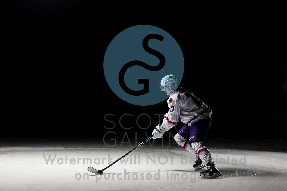 Youngstown Phantoms player photo shoot on April 14, 2021. <br /> <br /> Will Hillman, forward, 17