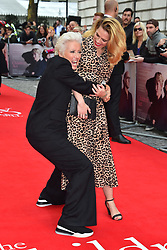 Hayley Atwell and Emma Thompson attending the Children Act Premiere, at the Curzon Mayfair cinema in London.Picture date: Thursday August 16, 2018. Photo credit should read: Matt Crossick/ EMPICS Entertainment.