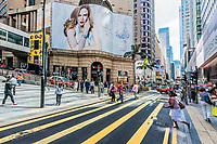 Central, Hong Kong, China- June 4, 2014: people in the streets of Central