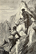 t was a painful ascent over the sharp lava and the pumice-stone From the Book Twenty thousand leagues under the seas, or, The marvelous and exciting adventures of Pierre Aronnax, Conseil his servant, and Ned Land, a Canadian harpooner by Verne, Jules, 1828-1905 Published in Boston by J.R. Osgood in 1875