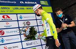Winner in overall classification Tadej POGACAR of UAE TEAM EMIRATES celebrates at trophy ceremony after the 3rd Stage of 27th Tour of Slovenia 2021 cycling race between Brezice and Krsko (165,8 km), on June 11, 2021 in Slovenia. Photo by Vid Ponikvar / Sportida