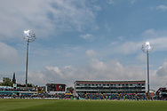 The sun is out at Headingly...gone is the rain, clouds and dark during the Royal London 1 Day Cup match between Yorkshire County Cricket Club and Lancashire County Cricket Club at Headingley Stadium, Headingley, United Kingdom on 1 May 2017. Photo by Mark P Doherty.