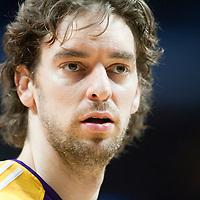 15 December 2009: Los Angeles Lakers forward Pau Gasol is seen prior to the Los Angeles Lakers 96-87 victory over the Chicago Bulls at the United Center, in Chicago, Illinois, USA.