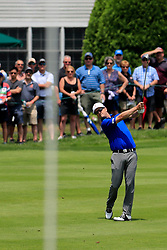June 24, 2018 - Cromwell, CT, U.S. - CROMWELL, CT - JUNE 24: Zach Johnson of the United States hits from the 3rd fairway during the Final Round of the Travelers Championship on June 24, 2018 at TPC River Highlands in Cromwell, Connecticut. (Photo by Fred Kfoury III/Icon Sportswire) (Credit Image: © Fred Kfoury Iii/Icon SMI via ZUMA Press)