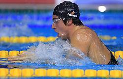 Edoardo Giorgetti of Italy swims in the men's 200m breaststroke race at the day 4 of LEN European Short Course Swimming Championships Rijeka 2008, on December 14, 2008,  in Kantrida pool, Rijeka, Croatia. (Photo by Vid Ponikvar / Sportida)
