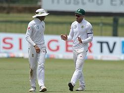 July 19, 2018 - Colombo, Sri Lanka - South African cricketer Keshav Maharaj and captain Faf Du Plessis during the first day of the 2nd test cricket match between Sri Lanka and South Africa at SSC International Cricket ground, Colombo, Sri Lanka on Friday 20 July 2018. (Credit Image: © Tharaka Basnayaka/NurPhoto via ZUMA Press)