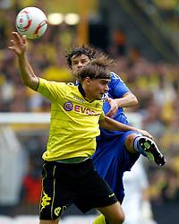 22.08.2010, Signal Iduna Park, GER, 1. FBL, Hinrunde 2010/2011, Borussia Dortmund vs Bayer 04 Leverkusen, im Bild: Marcel Schmelzer (Dortmund GER #29) vsTranquillo Barnetta (Bayer 04 Leverkusen SUI #7), EXPA Pictures © 2010, PhotoCredit: EXPA/ nph/  Scholz..+++++ ATTENTION - OUT OF GER +++++ / SPORTIDA PHOTO AGENCY